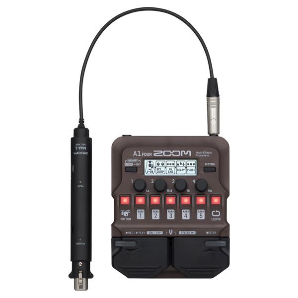 Zoom(ズーム) / A1 FOUR アコースティック楽器用マルチエフェクター 【マイクアダプター(MAA-1)付属】