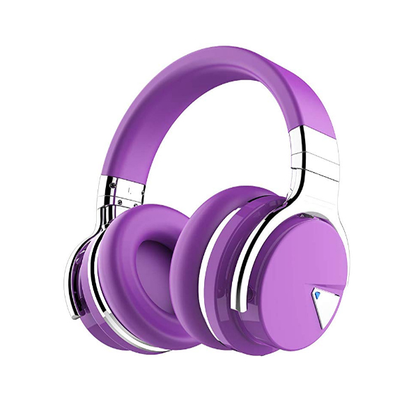 COWIN / E7 (パープル) / ノイズキャンセリング 30時間再生 Bluetooth対応 密閉型 高音質 内蔵マイク NFC搭載 ヘッドホン
