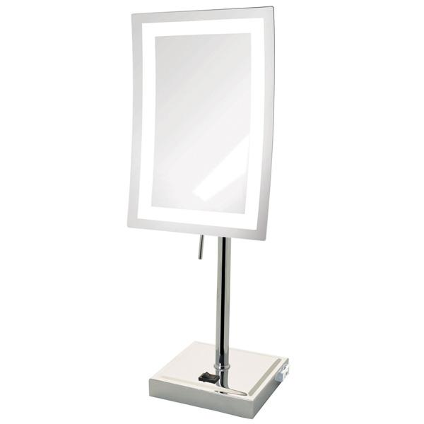 1大特典付 Jerdon(ジェルドン) / JRT910CL (クロム) 《LED付き鏡》 【5倍率】[鏡面 約17×23cm / 高さ 約43cm] 卓上型テーブルミラー