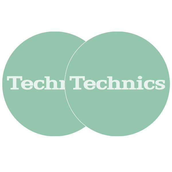 シンプルでもインパクト大なカラーデザイン! Technics(テクニクス) / Slipmats (Turquoise) - スリップマット (2枚/1ペア) -