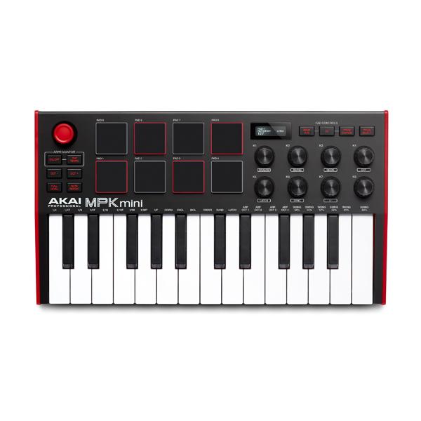 Akai(アカイ) / MPK mini mk3 / ベロシティ対応(バックライト付き) / 25鍵ミニキーボード USB MIDIキーボードコントローラー