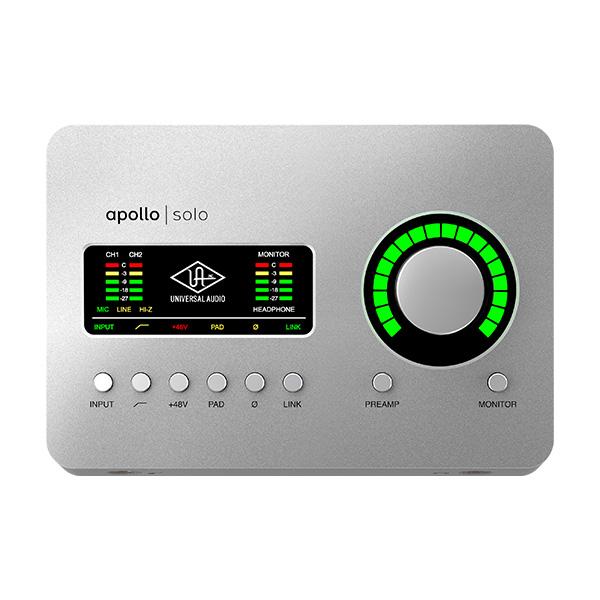 Universal Audio(ユニバーサルオーディオ) / Apollo Solo - Thunderbolt 3 オーディオインターフェース - ※必ず対応機種をご確認ください