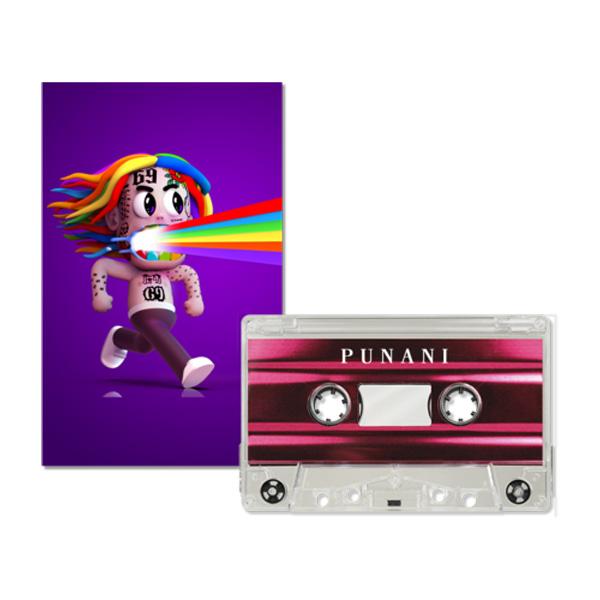 6ix9ine 新色追加して再販 シックスナイン のスペシャルアイテム 特価 6IX9INE CASSETTE カセットテープ PUNANI EXPLICIT