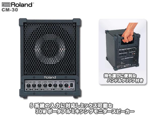 パワフルな小型多目的モニター アンプ 超安い Roland ローランド 30W 小型多目的モニター ふるさと割 - CM-30