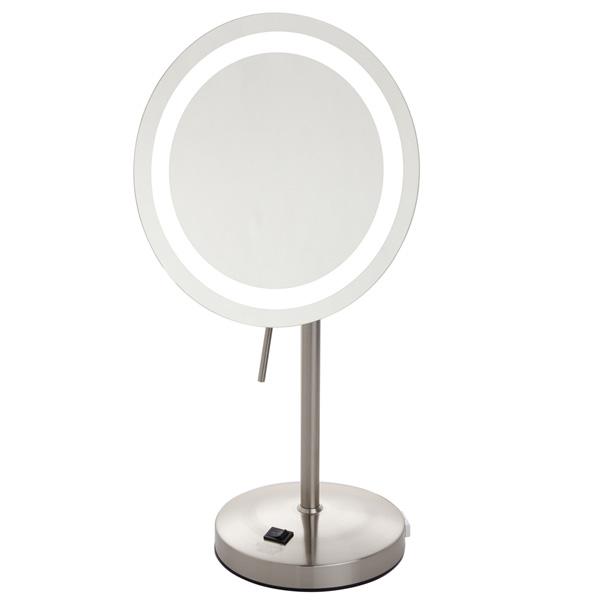 Jerdon(ジェルドン) / JRT950NL (ニッケル) 《LEDライト付拡大鏡》 [鏡面 直径約22cm] 【8倍率】 -卓上型拡大鏡-