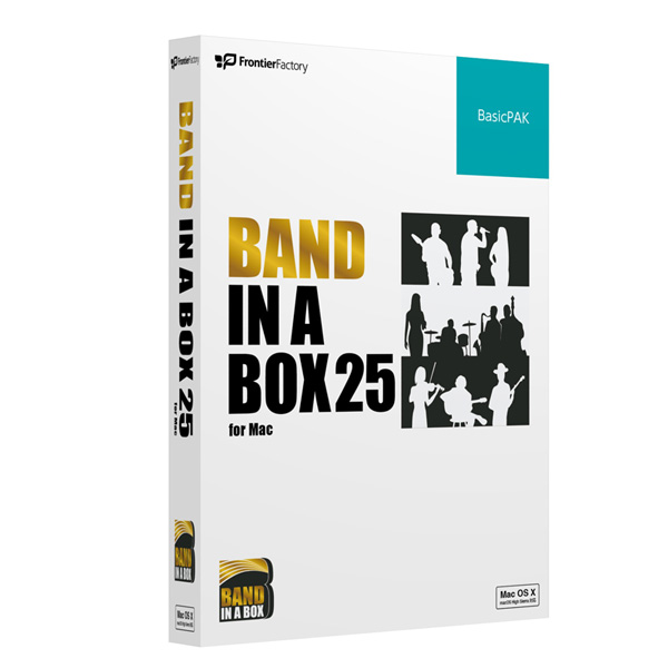 1大特典付 E-frontier(イーフロンティア) / Band-in-a-Box 25 for Mac BasicPAK - 自動作曲 / 伴奏作成ソフト -