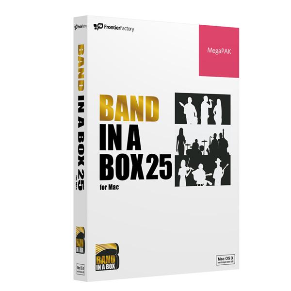1大特典付 E-frontier(イーフロンティア) / Band-in-a-Box 25 for Mac MegaPAK - 自動作曲 / 伴奏作成ソフト -
