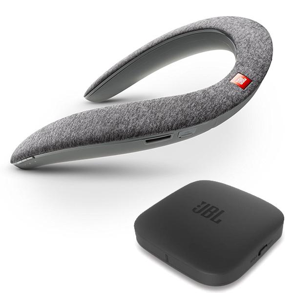 JBL(ジェービーエル) / SOUNDGEAR BTA (GRAY) 【Bluetoothオーディオ (BTA) 送信機機付属】 - VRにオススメ 個人用ワイヤレススピーカー / ウェアラブルネックスピーカー 直輸入品