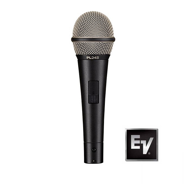 Electro-Voice(エレクトロボイス) / Dynamic Microphone PL24S [スイッチ付] -ダイナミック マイク- 【正規品 3年保証】