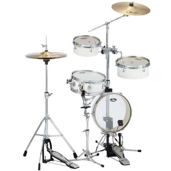 スローン付き Pearl(パール) / Rhythm Traveler Light リズムトラベラーライト 【RT-5124N #33 ピュアホワイト】 - コンパクト・ドラムセット -