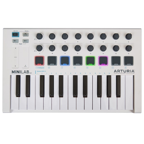 Arturia / MINILAB MK2 (WHITE) MIDIコントローラー 【Analog Lab Lite / Ableton Live Lite / UVI Grand Piano Model D バンドル】【アートリア】