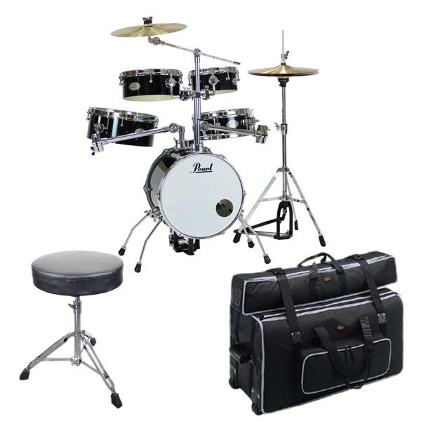 【専用キャリングバッグセット】Pearl(パール) / Rhythm Traveler Version 3S 【RT-645N/C Jet Black(ジェットブラック)】 リズムトラベラー-コンパクト ドラムセット -