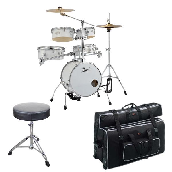 【専用キャリングバッグセット】Pearl(パール) / Rhythm Traveler Version 3S 【RT-645N/C Pure White(ピュアホワイト)】 リズムトラベラー-コンパクト ドラムセット -