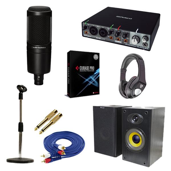 7大特典付 【DTM高音質レコーディングセットB】Cubase Pro 9 (アカデミック版) / Rubix24 / AT2020