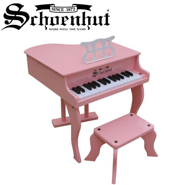 Schoenhut / Fancy Baby Grand (Pink) ベンチ付き 30鍵盤 トイピアノ 【シェーンハット】【国内正規品】