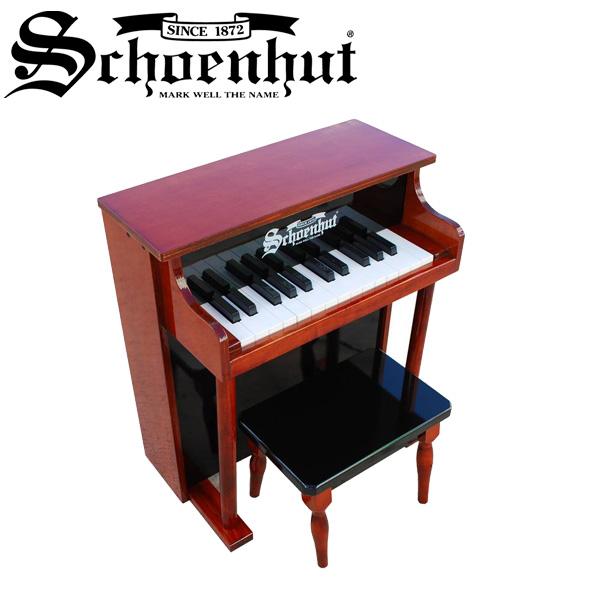 Schoenhut(シェーンハット) / Traditional Spinet (Mahogany / Black) - ベンチ付き 25鍵トイピアノ -