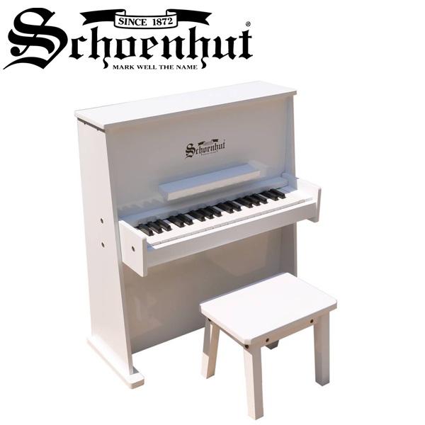 Schoenhut(シェーンハット) / Day Care Durable Piano (White) - ベンチ付き 37鍵トイピアノ -