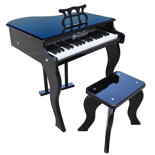 Schoenhut(シェーンハット) / 37 Key Elite Baby Grand Piano (Black) - ベンチ付き 37鍵トイピアノ -