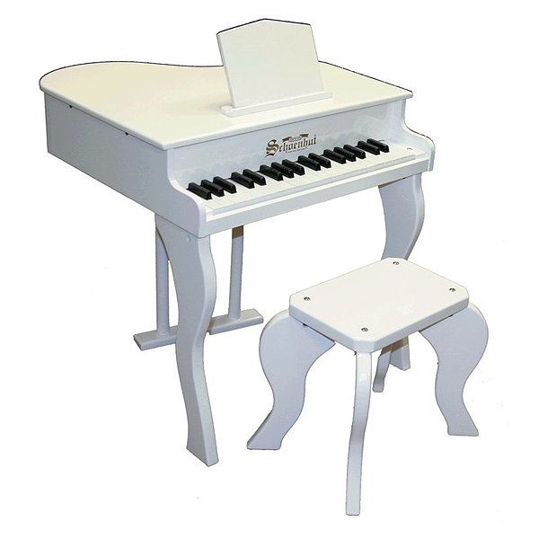 Baby Schoenhut Piano ベンチ付き 37鍵トイピアノ (WHITE) 【国内正規品】シェーンハット Grand Key 37 / Elite