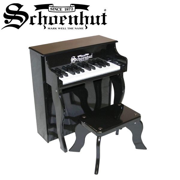 Schoenhut(シェーンハット) / Elite Spinet (Black) ベンチ付き 25鍵トイピアノ 直輸入品
