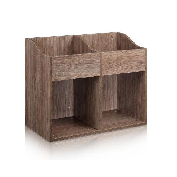 Zomo(ゾモ) / VS-Box 200/2 Walnut (組立式) - 12インチレコード収納BOX - 【約400枚収納可能】