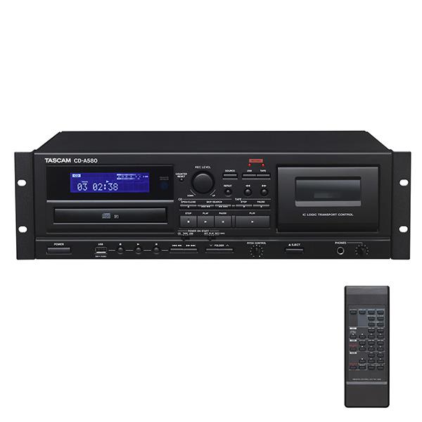 業務用カセットレコーダー/CDプレーヤー/USBメモリーレコーダー 【箱ボロ特価品】 CD-A580 Tascam