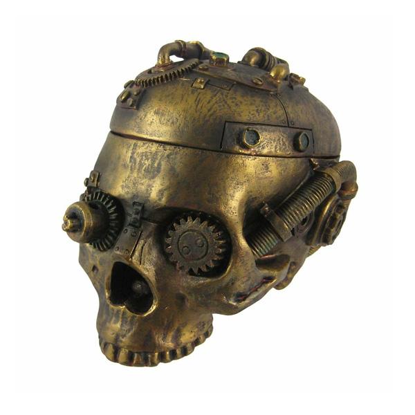 ドクロ灰皿 / Things2Die4 / Steampunk Skull Trinket Box