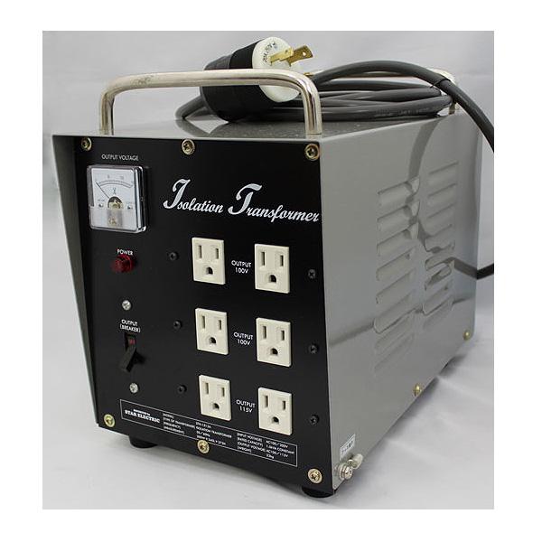 ダウン&アイソレーション・電源トランス 1500W・200V仕様 【至高の電源・静電シールド装備】