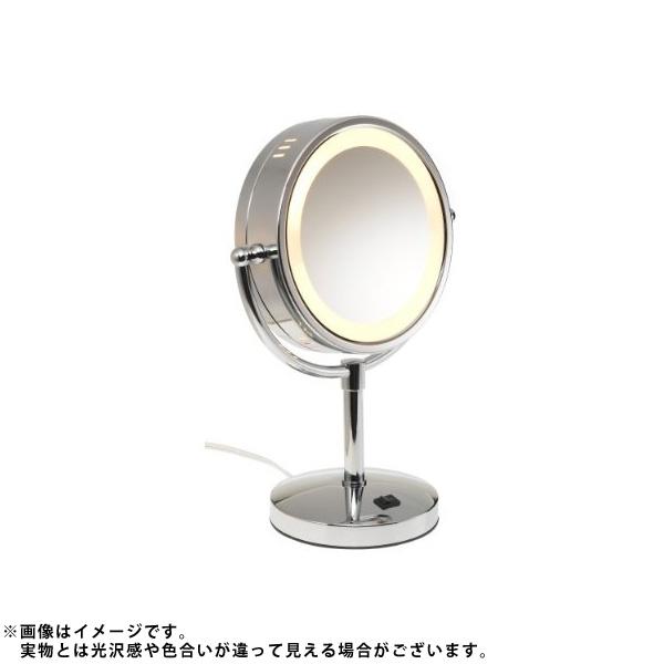 Jerdon(ジェルドン) / HL745CO (クローム) 《ライト付拡大鏡》 [鏡面 直径22cm] 【5倍率/等倍率】 -卓上型テーブルミラー- 大特典セット