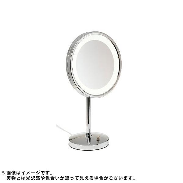 Jerdon(ジェルドン) / HL1015CL (クローム) 《ライト付拡大鏡》 [鏡面 直径24cm] 【5倍率】 -卓上型テーブルミラー- 大特典セット