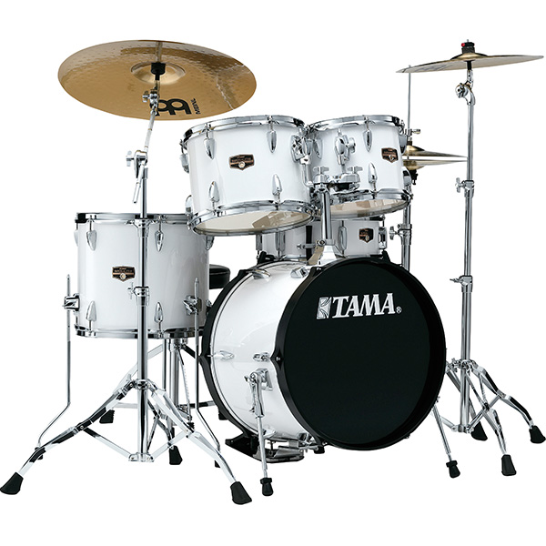 """2大特典付 TAMA(タマ) / IP58H6HC-SGW(シュガーホワイト) 【2018 IMPERIALSTAR 18""""バスドラムキット】- ドラムセット -"""