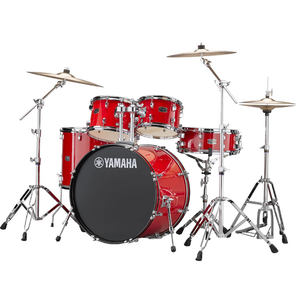 YAMAHA(ヤマハ) / RYDEEN(ライディーン) [RDP2F5STD RD(ホットレッド)]【22BD シンバル付きフルセット】 - ドラムセット -