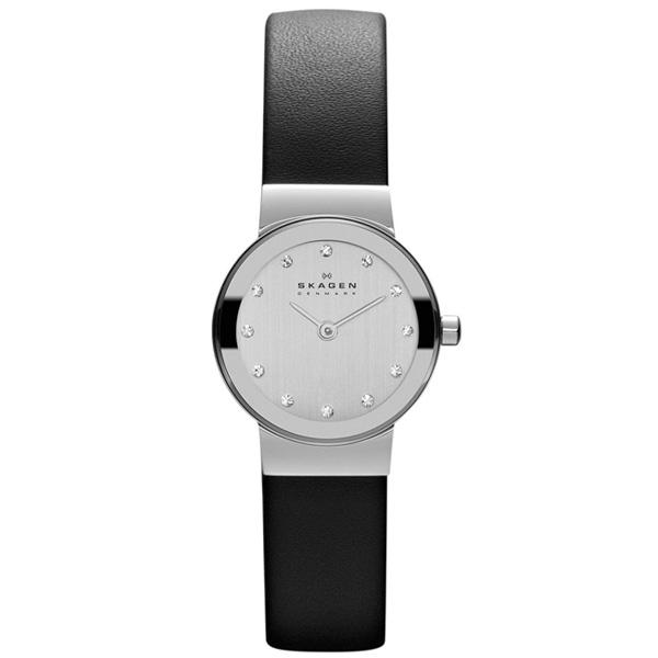 【緊急告知 12/19~26限定エントリ―P7倍】Skagen(スカーゲン) Black Leather & Steel Watch 358XSSLBC レディース腕時計 直輸入品