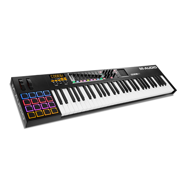 1大特典付 M-Audio(エム・オーディオ) / Code 61 Black【Ableton Live Lite付属】 -ベロシティ&アフタータッチ対応61鍵盤 USB MIDIキーボードコントローラ -- -