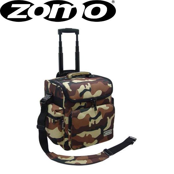 Zomo(ゾモ) / DJ-Trolley (Camouflage Brown) - トロリータイプ 12インチレコード 約70枚収納可能レコードバッグ -