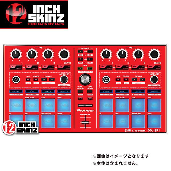 【緊急告知 12/19~26限定エントリ―P7倍】12inch SKINZ / Pioneer DDJ-SP1 SKINZ (Red) 【DDJ-SP1用スキン】
