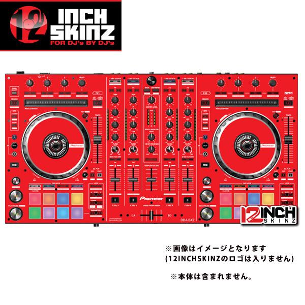 12inch SKINZ / Pioneer DDJ-SX2 SKINZ(RED) - 【DDJ-SX2用スキン】