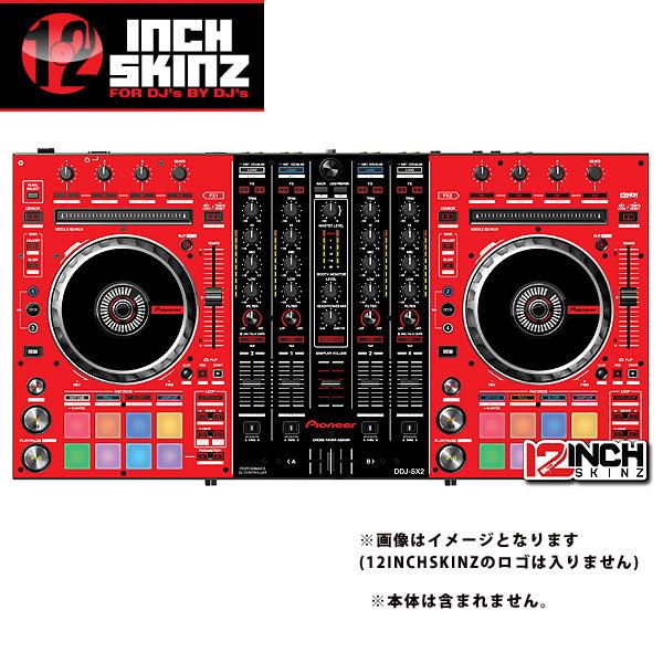 12inch SKINZ / Pioneer DDJ-SX2 SKINZ(RED/BLACK) - 【DDJ-SX2用スキン】