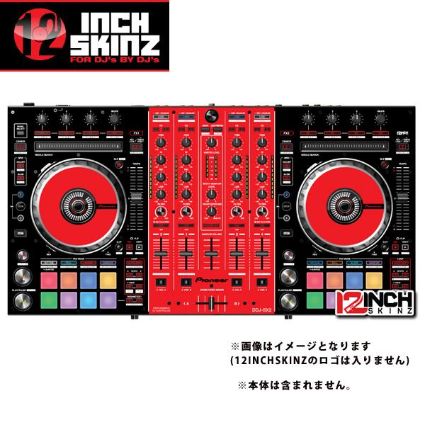 12inch SKINZ / Pioneer DDJ-SX2 SKINZ(BLACK/RED) 【DDJ-SX2用スキン】