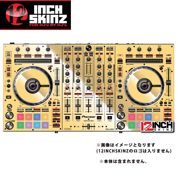 12inch SKINZ / Pioneer DDJ-SX2 SKINZ Metallics (Mirror Gold) 【DDJ-SX2用スキン】