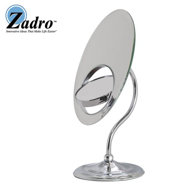 Zadro(ザドロ) / OVL37 (クローム) 《拡大鏡》 [鏡面 28cm x 18cm]【等倍率/3倍率/8倍率】 - 卓上型テーブルミラー -