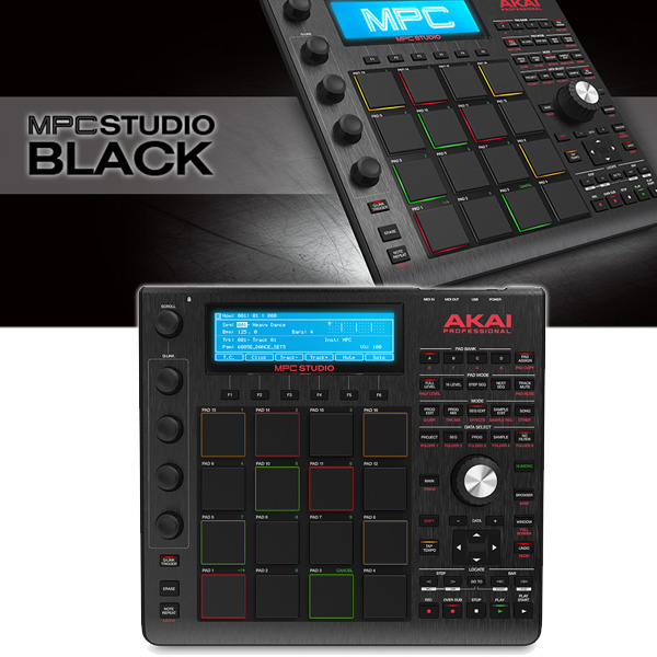 Akai(アカイ) 付属】 / 音楽制作システム 【MPC BLACK サンプラー STUDIO SOFTWARE MPC