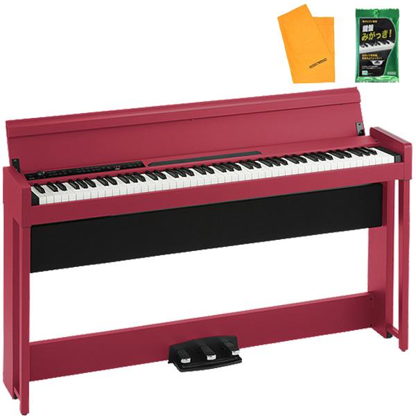 2大特典付 KORG / C1 AIR RD (レッド) 88鍵盤 デジタルピアノ / 電子ピアノ 【専用スタンド、3本ペダル、ヘッドホン付属】