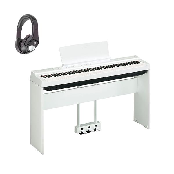 1大特典付 【専用スタンド&ペダルセット】 YAMAHA(ヤマハ) / P-125WH ホワイト - 電子ピアノ -