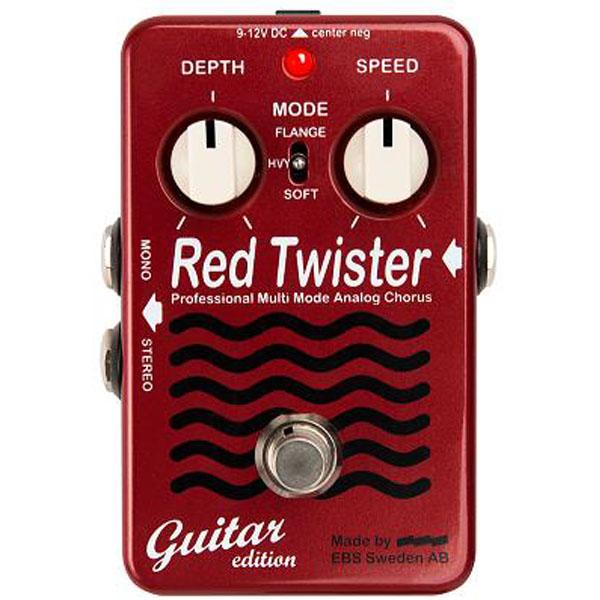【在庫限りの大特価!】EBS(イービーエス) / Red Twister Guitar - コーラス / フランジャー - 《ギターエフェクター》