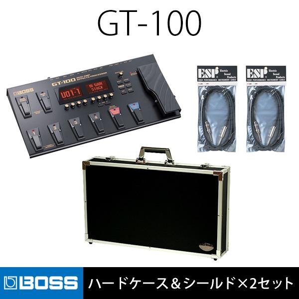 【ハードケース&シールド×2セット】Boss(ボス) / GT-100 - ギター・マルチエフェクター