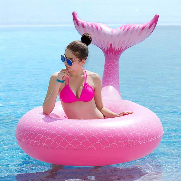 【緊急告知 12/19~26限定エントリ―P7倍】Jasonwell / Giant Inflatable Mermaid Tail Pool Float (Green) マーメイドテール 浮き輪
