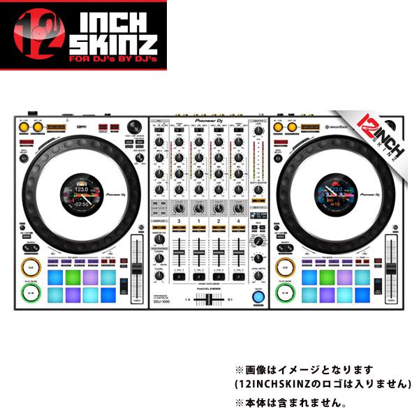 12inch SKINZ / Pioneer DDJ-1000 SKINZ(White/Black) 【DDJ-1000用スキン】