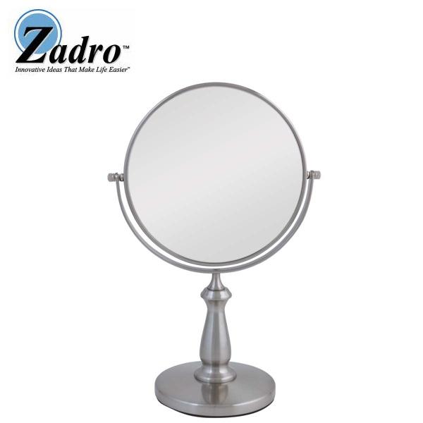 Zadro(ザドロ) / VAN48 (サテンニッケル) [鏡面 19cm] 【等倍率 / 8倍率】 卓上型拡大鏡(ライト無し) 【アメリカブランド】