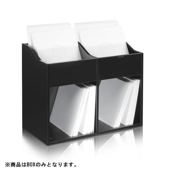 Zomo( VS-Box 200/2 Black (組立式) 12インチレコード収納BOX 【約400枚収納可能】 ゾモ